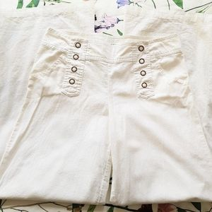Venus Linen Cotton Linen White Pants